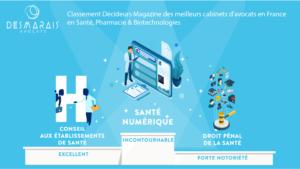 Classement du cabinet Desmarais Avocats selon le magazine Décideurs